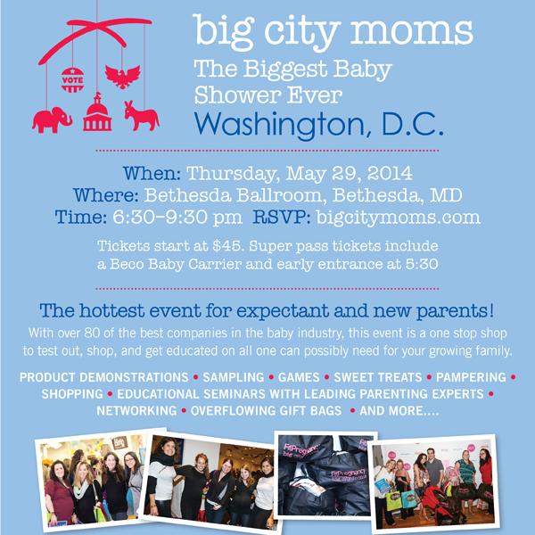 Biggest Baby Shower DC 2014 Promotional Code for Clarendon Moms Readers for Discount: MTMDC