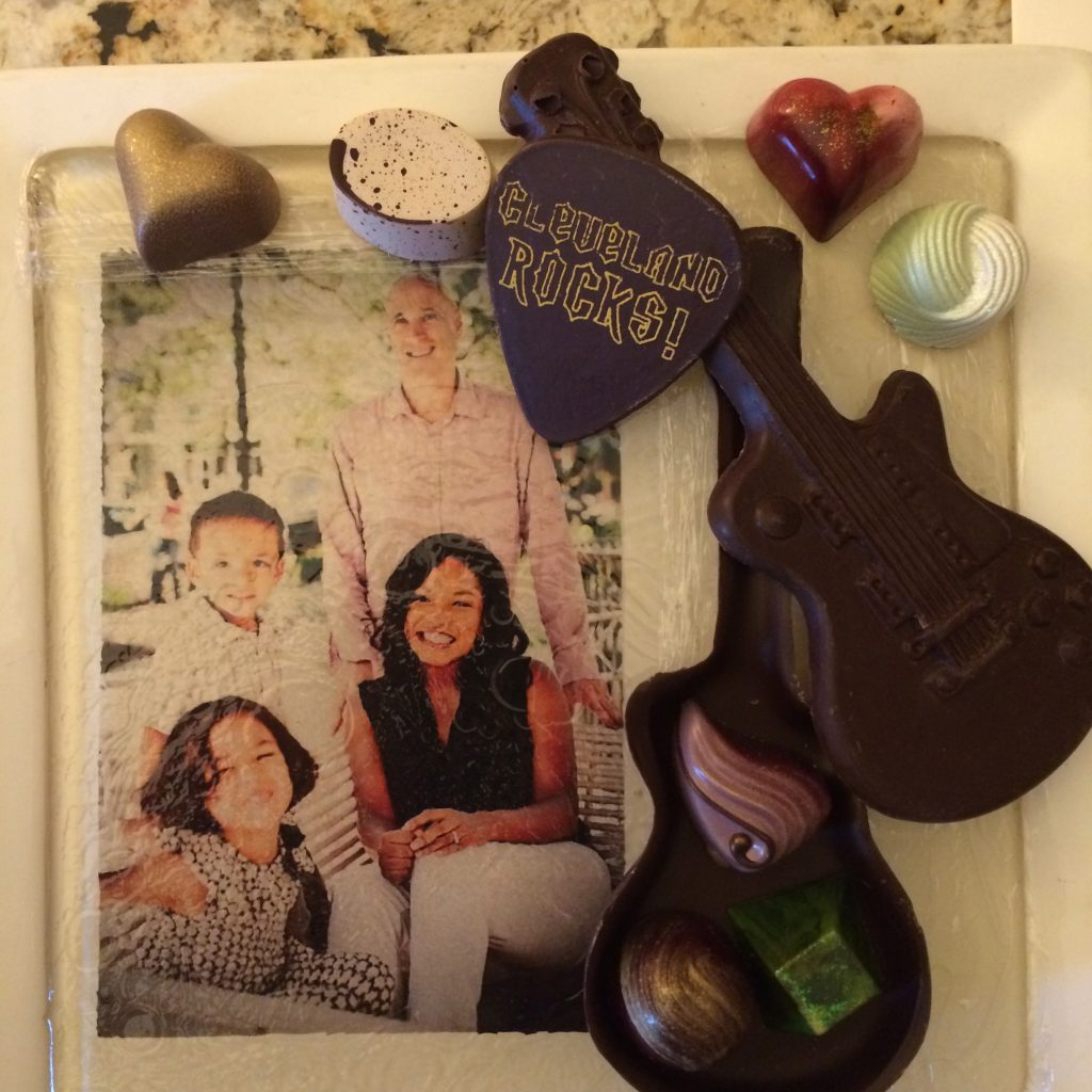 ©ClarendonMoms/Angelica Talan. Custom candy dish gifted by the Ritz Carlton Cleveland. Photography by Bonnie Sen.