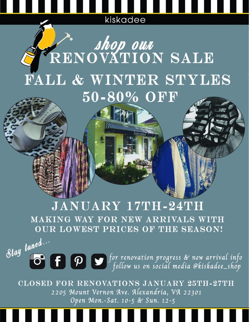 Kiskadee Renovation Sale
