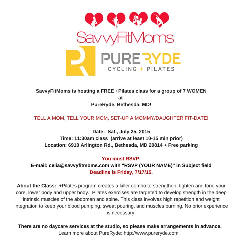 SavvyFitMoms and PureRyde Event
