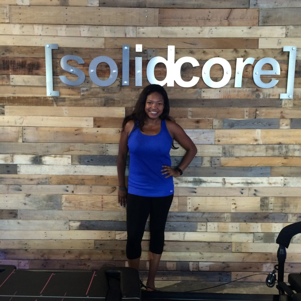 Instagram @AngelicaTalan (Still smiling after surviving my first ever Solidcore Workout--note the sweat)