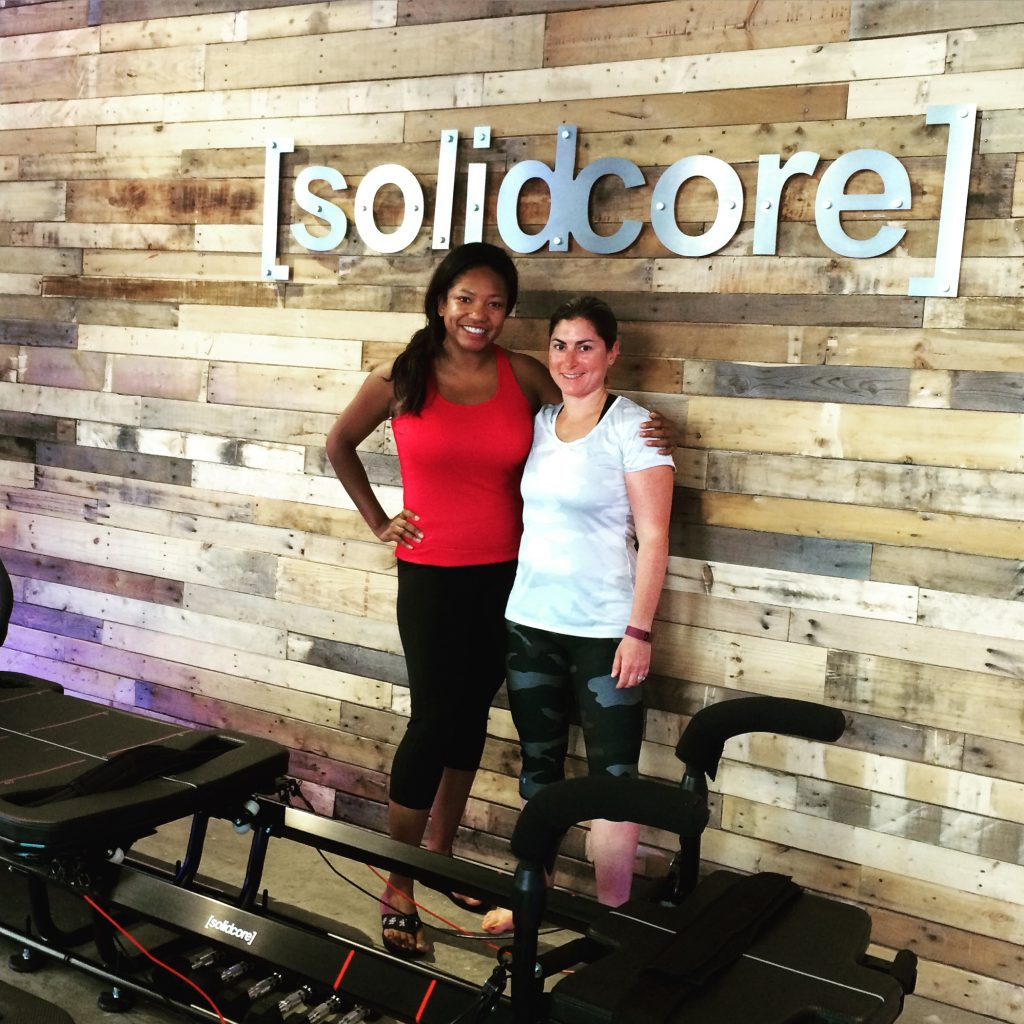 Instagram @AngelicaTalan My friend Cheryl joined me for my second class at Solidcore.