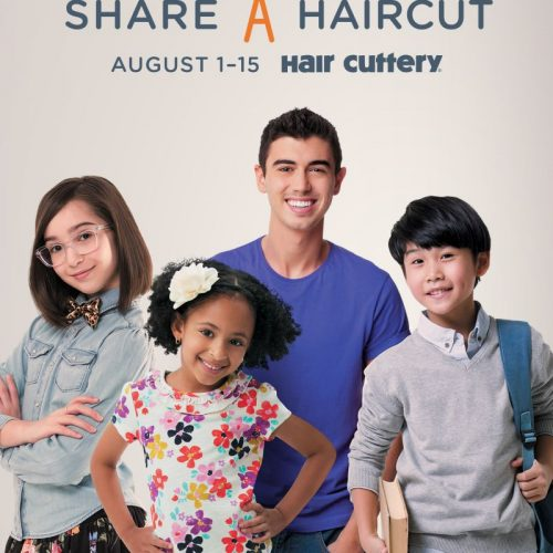 Share A Haircut at Hair Cuttery August 1-15th
