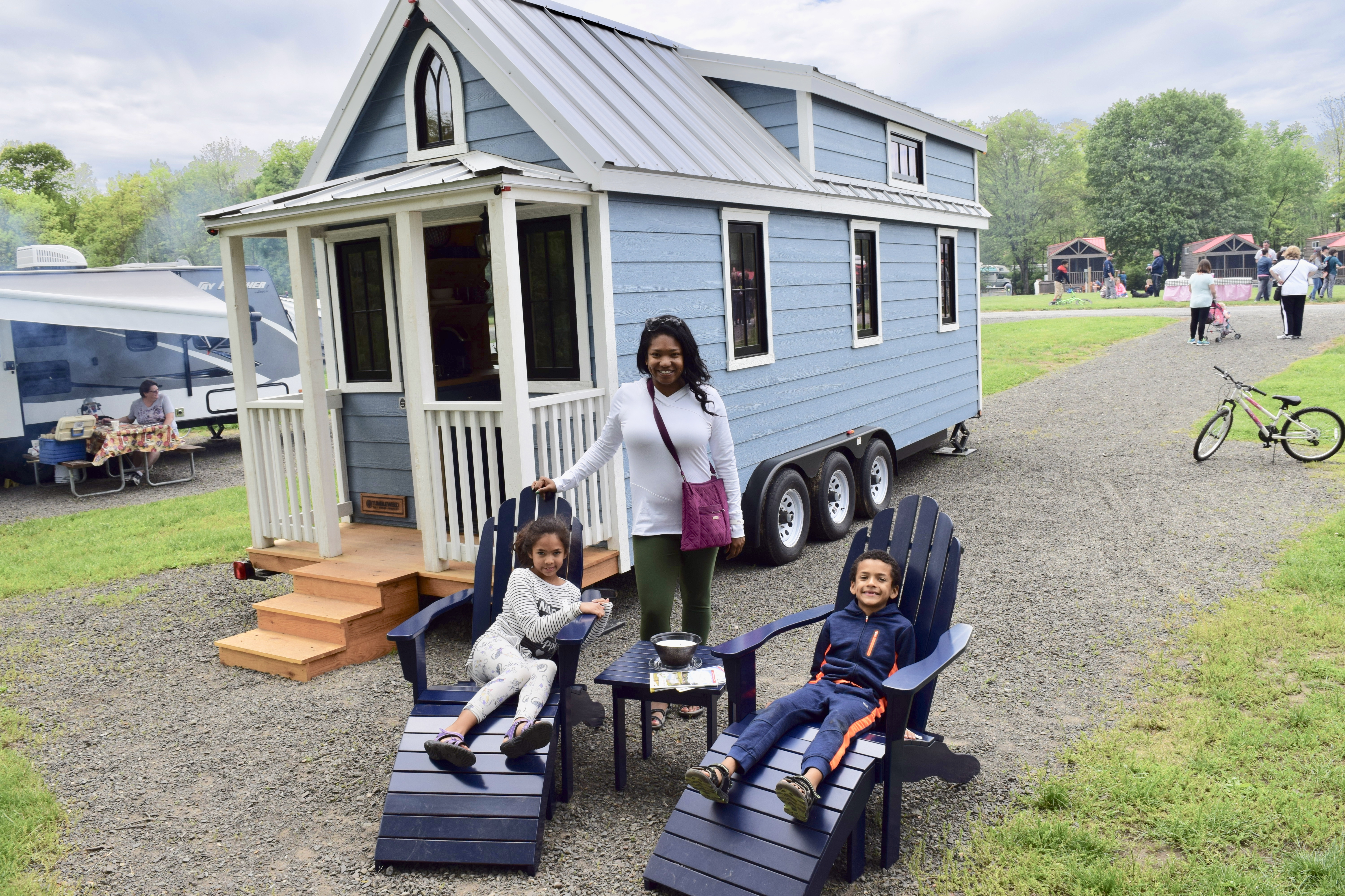 Last Month Three Tumbleweed Tiny Homes Began Traveling Down The East Coast On Their Debut Tour At Jellystone ParkTM In Gardiner NY Quarryville PA