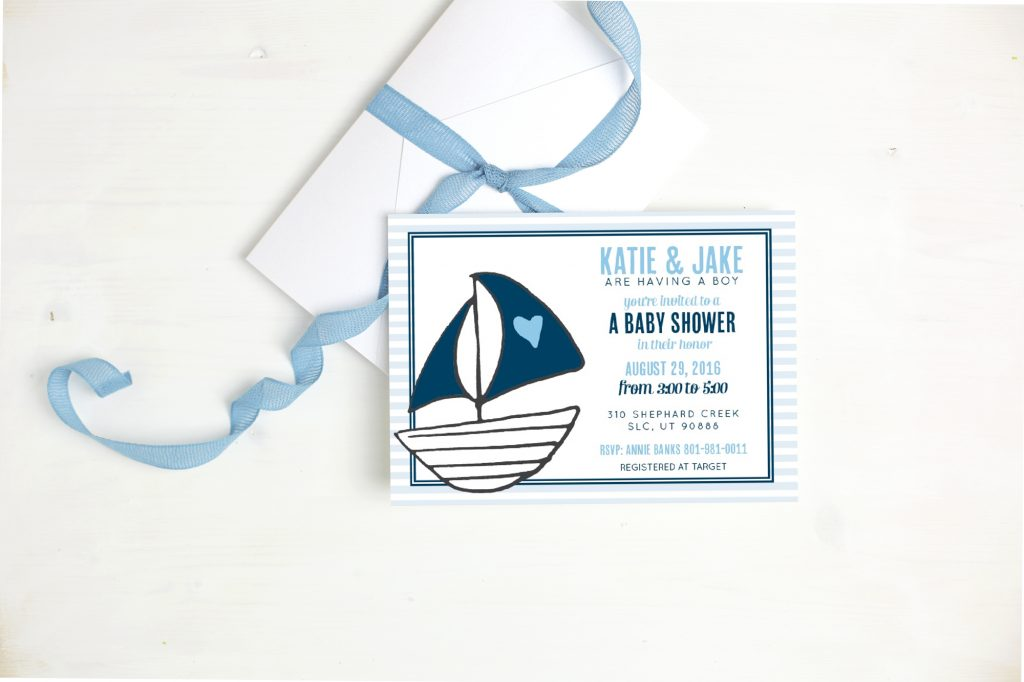 Basic Invite Sail Boat Clarendon Moms